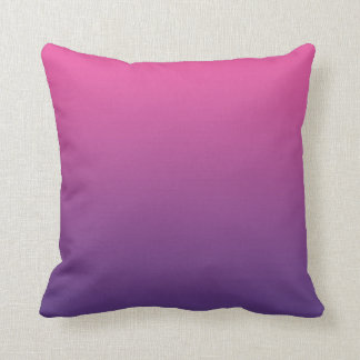 """Ombre rosado y púrpura"" Cojín"