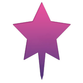 Ombre rosado y púrpura figura para tarta