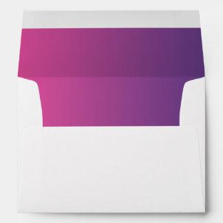 Ombre rosado y púrpura sobres