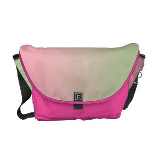 Ombre rosado y verde bolsa de mensajeria