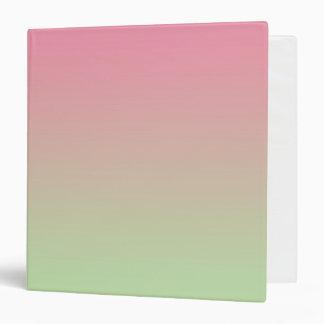 """Ombre rosado y verde carpeta 1 1/2"""""""