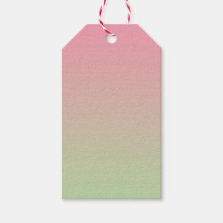 Ombre rosado y verde etiquetas para regalos