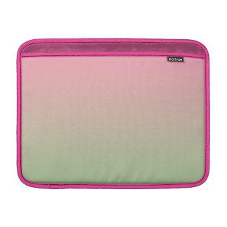 Ombre rosado y verde funda para macbook air