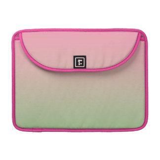 Ombre rosado y verde funda para macbooks