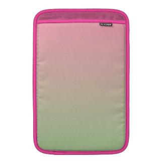 Ombre rosado y verde fundas MacBook
