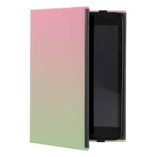 Ombre rosado y verde iPad mini cárcasas