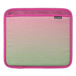 Ombre rosado y verde mangas de iPad