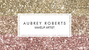 Pink business cards zazzle ombre rose pink gold glitter girly business cards reheart Images