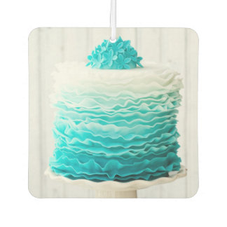 Ombre ruffle cake car air freshener