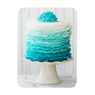 Ombre ruffle cake magnet