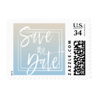 Ombre Save the Date Postage
