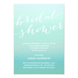 """OMBRE SHOWER   BRIDAL SHOWER INVITATION 5"""" X 7"""" INVITATION CARD"""