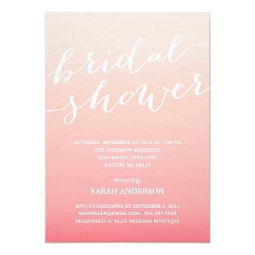 Ombre shower bridal shower invitation zazzle for Bridal shower email invitations