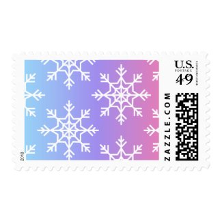 Ombré Snowflake Pattern Stamp