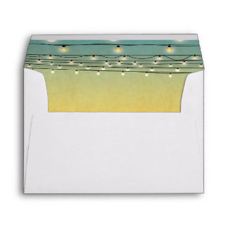 Ombre String of Lights Summer Tropical Beach Envelope