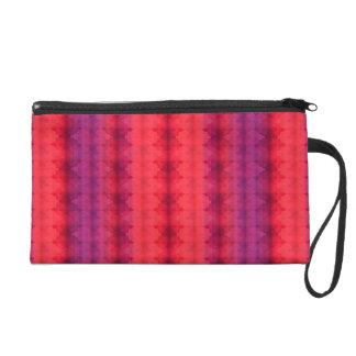 Ombre Stripe Pattern Wristlet Bag