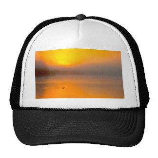 Ombre Sunrise Shining on Two Ducks Nature Photo - Trucker Hat