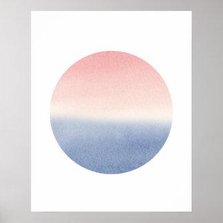 ombre sunset seascape poster art print