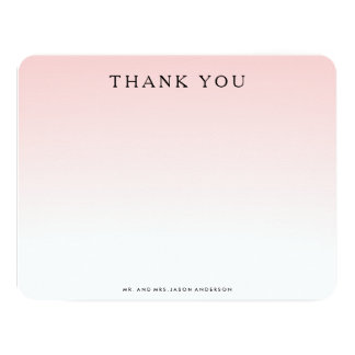 OMBRE THANK YOU Notecard