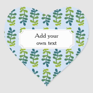 Ombre Tropical Leaves Heart Sticker