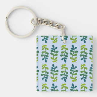 Ombre Tropical Leaves Keychain