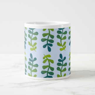 Ombre Tropical Leaves Large Coffee Mug