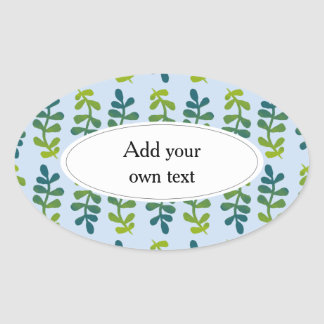Ombre Tropical Leaves Oval Sticker