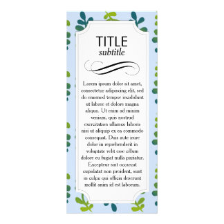 Ombre Tropical Leaves Personalized Rack Card