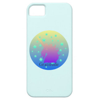 Ombre unicorn with word gratitude iPhone SE/5/5s case
