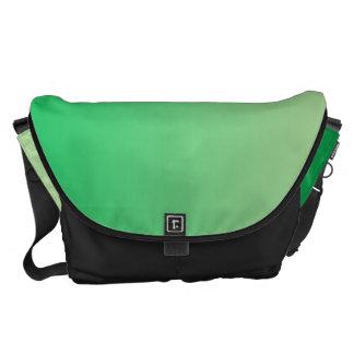Ombre verde grande bolsas de mensajería