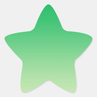 Ombre verde pegatina en forma de estrella