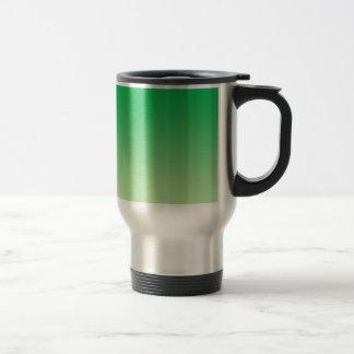 Ombre verde taza de viaje