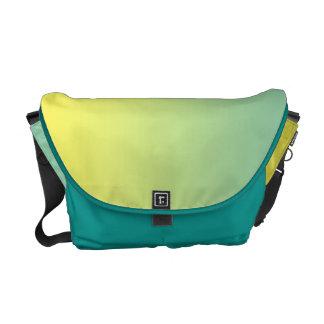 Ombre verde y amarillo bolsas de mensajería