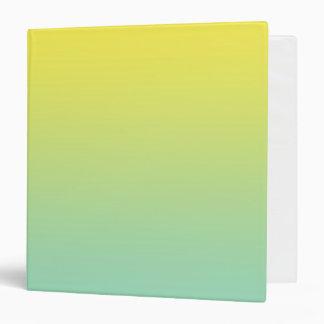 """Ombre verde y amarillo carpeta 1 1/2"""""""