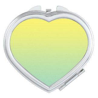Ombre verde y amarillo espejos compactos