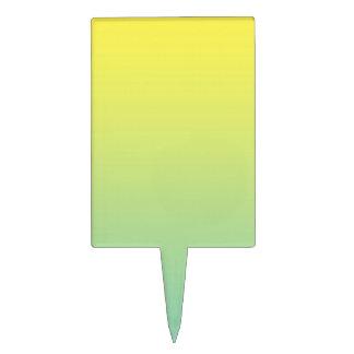 Ombre verde y amarillo figura para tarta