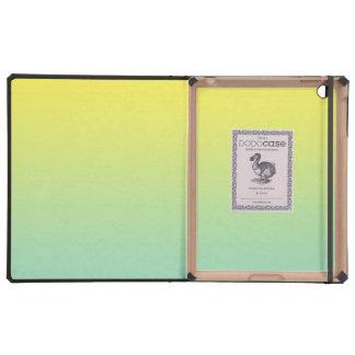 Ombre verde y amarillo iPad protector