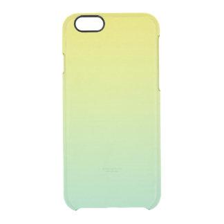 Ombre verde y amarillo funda clearly™ deflector para iPhone 6 de uncommon