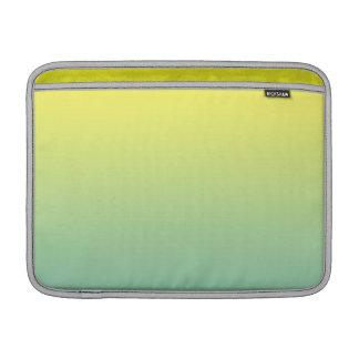 Ombre verde y amarillo funda  MacBook