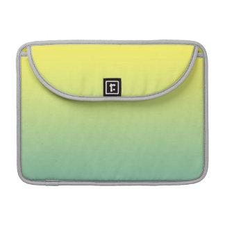 Ombre verde y amarillo funda para macbook pro