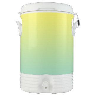 Ombre verde y amarillo vaso enfriador igloo