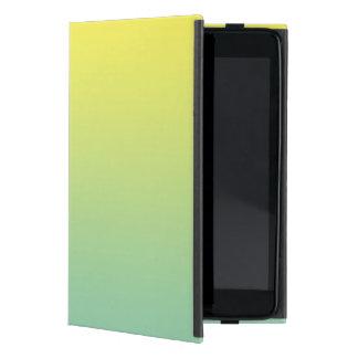 Ombre verde y amarillo iPad mini cárcasas