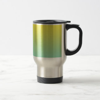 Ombre verde y amarillo taza térmica