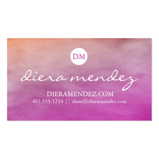 Ombre watercolor business card zazzle for Zazzle business card