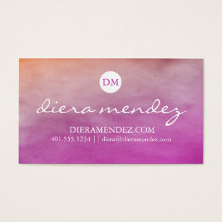 Ombre Watercolor Business Card