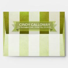 Ombre Watercolor Stripes A7 | pear Envelopes
