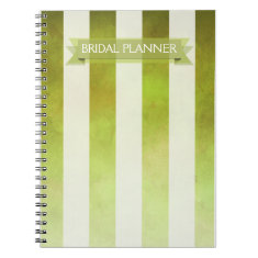 Ombre Watercolor Stripes Bridal Planner | pear Notebooks