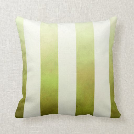 Ombre Watercolor Stripes designer   pear Pillow