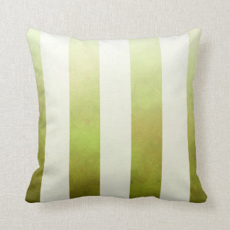 Ombre Watercolor Stripes designer | pear Throw Pillow