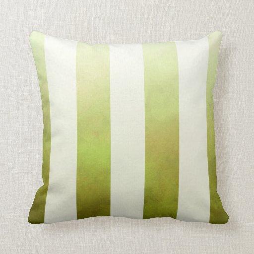 Ombre Watercolor Stripes designer   pear Throw Pillow